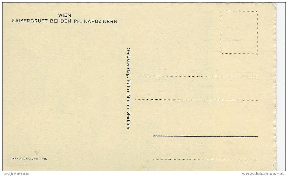 AK 0939  Wien ( Kapuzinerkirche ) - Eingang Zur Kaisergruft / Foto Martin Gerlach Um 1920-30 - Kirchen