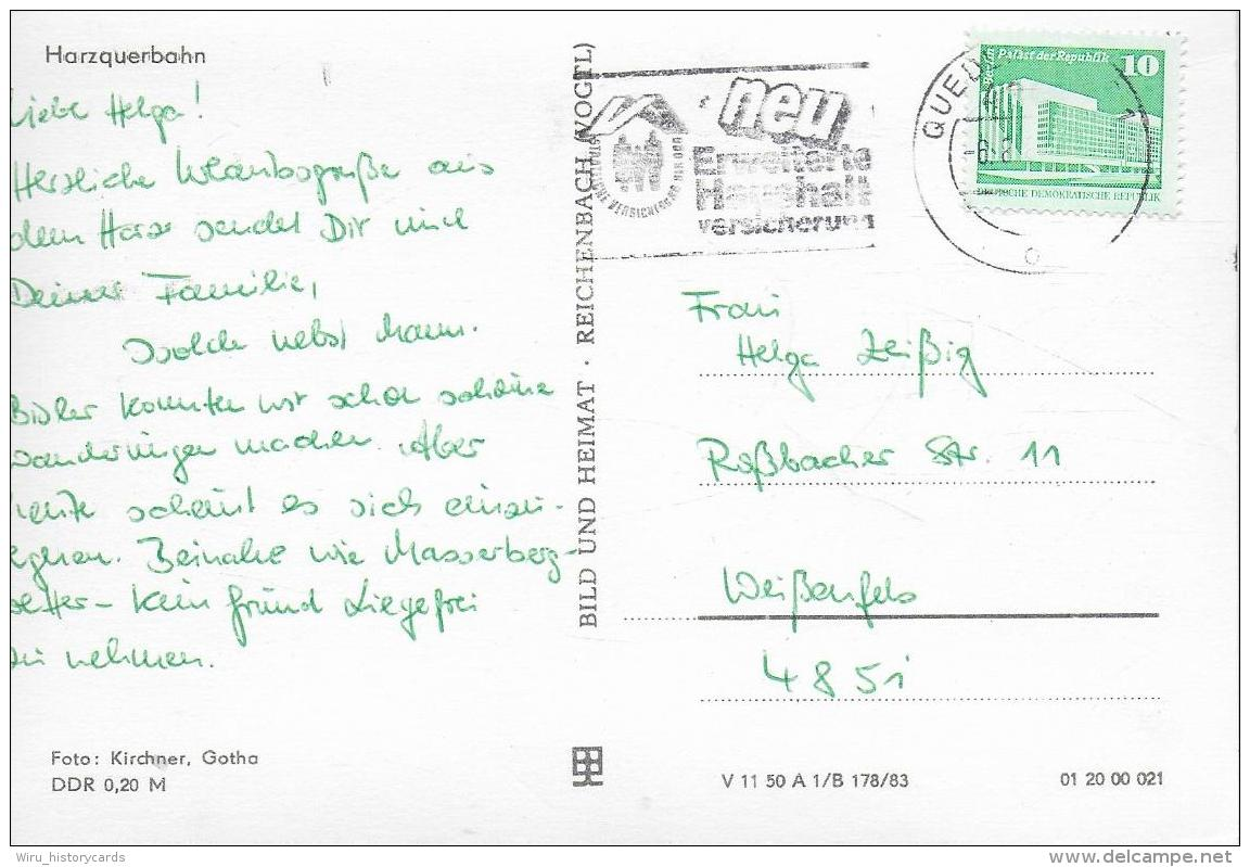 AK 0938  Harzquerbahn - Ostalgie , DDR Um 1983 - Eisenbahnen