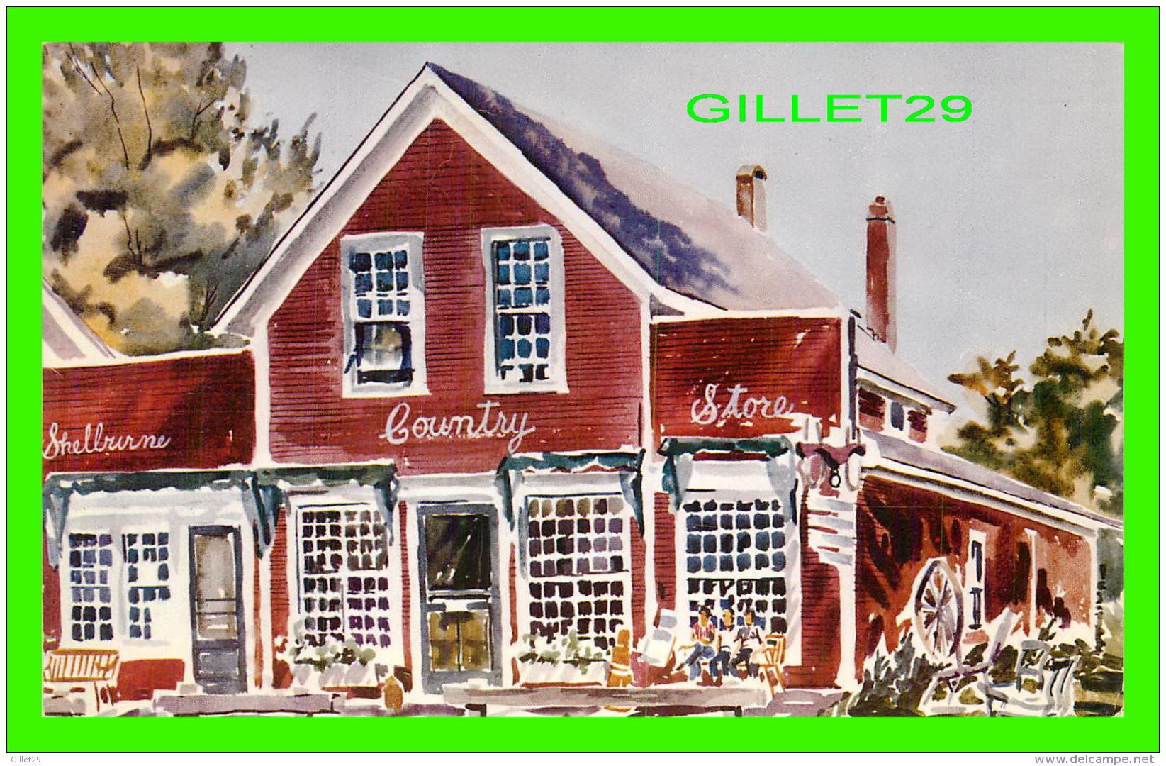 SHELBURNE, VT - SHELBURNE COUNTRY STORE ON THE VILLAGE GREEN SHELBURNE - TRAVEL IN 1966 - - United States