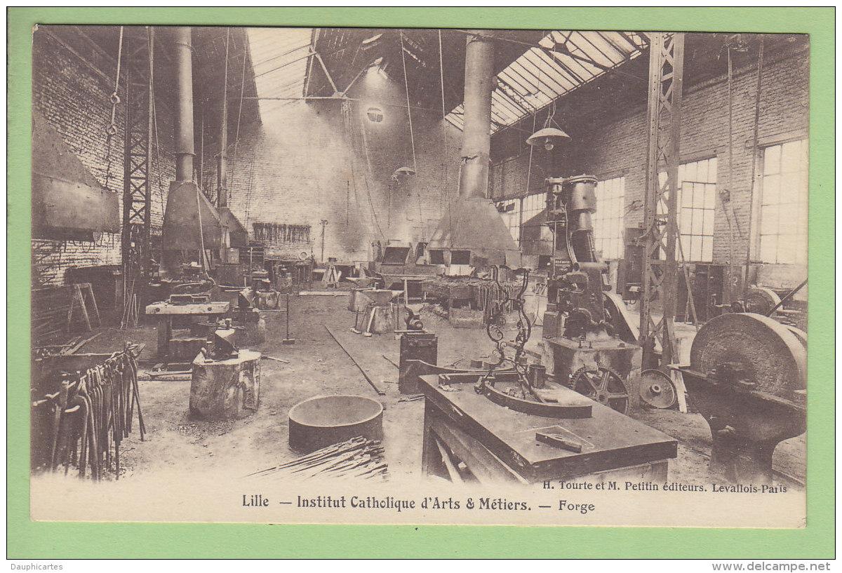 LILLE : Institut Catholique D'Arts Et Métiers, Forge. TBE. 2 Scans. Edition Tourte Et Petitin - Lille