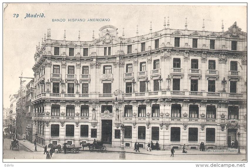 ***  MADRID  Banco Hispano Americano Timbrée TTB - Madrid