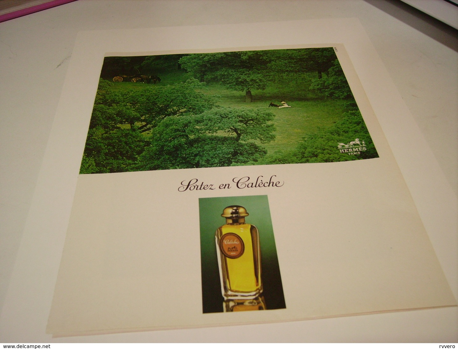 ANCIENNE AFFICHE  PUBLICITE PARFUM CALECHE DE HERMES 1978 - Parfums & Beauté