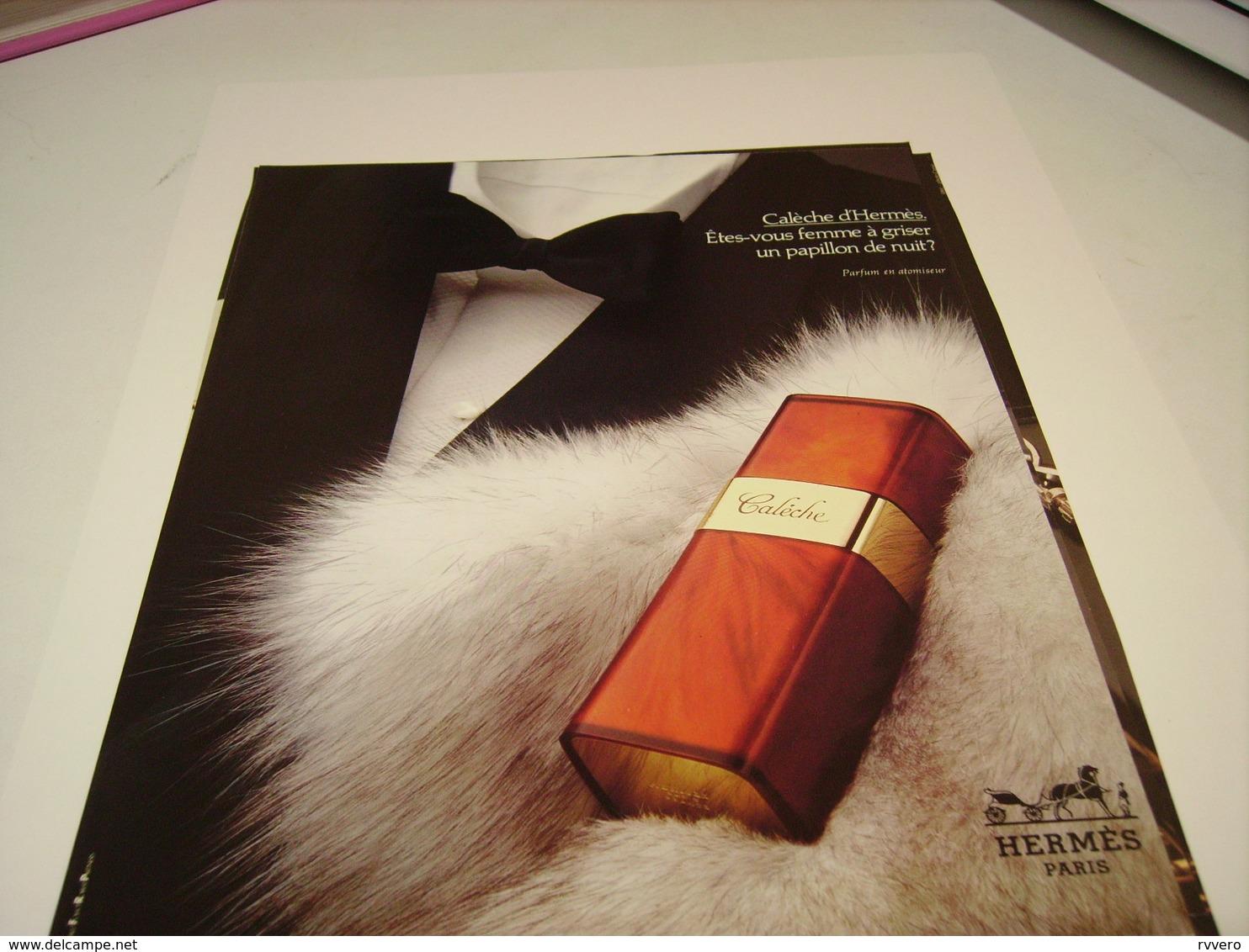 ANCIENNE AFFICHE  PUBLICITE PARFUM CALECHE DE HERMES 1983 - Parfums & Beauté