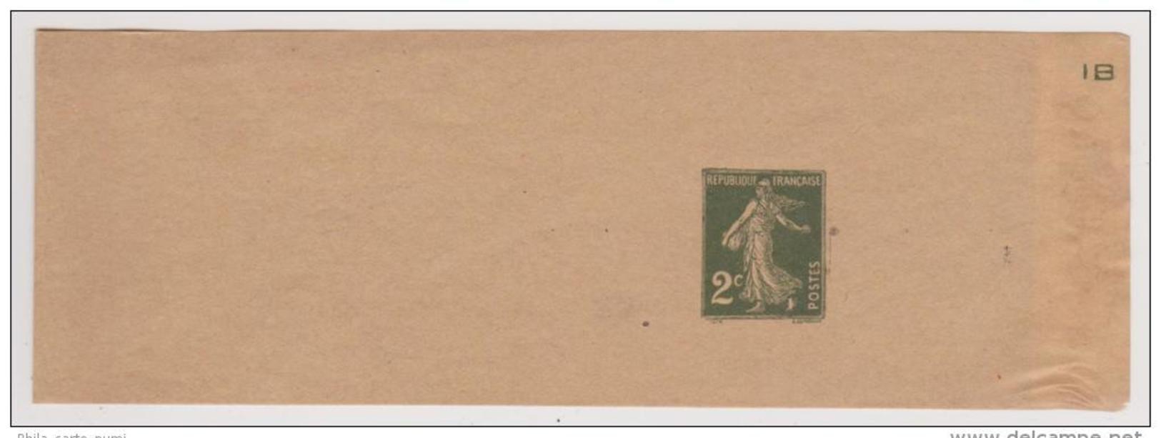 Bande Pour Journaux  2c Vert Olive De 1934 (Date 442 ) Avec Lettre De Controle IB - Postwaardestukken
