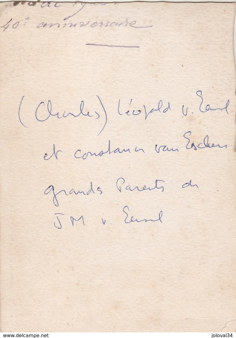 Photo N° 4 - Charles Léopold Van Eersel  Et Constance Van Eschen - Format 14 X 10,5 Cm Collée Sur Carton - Photos