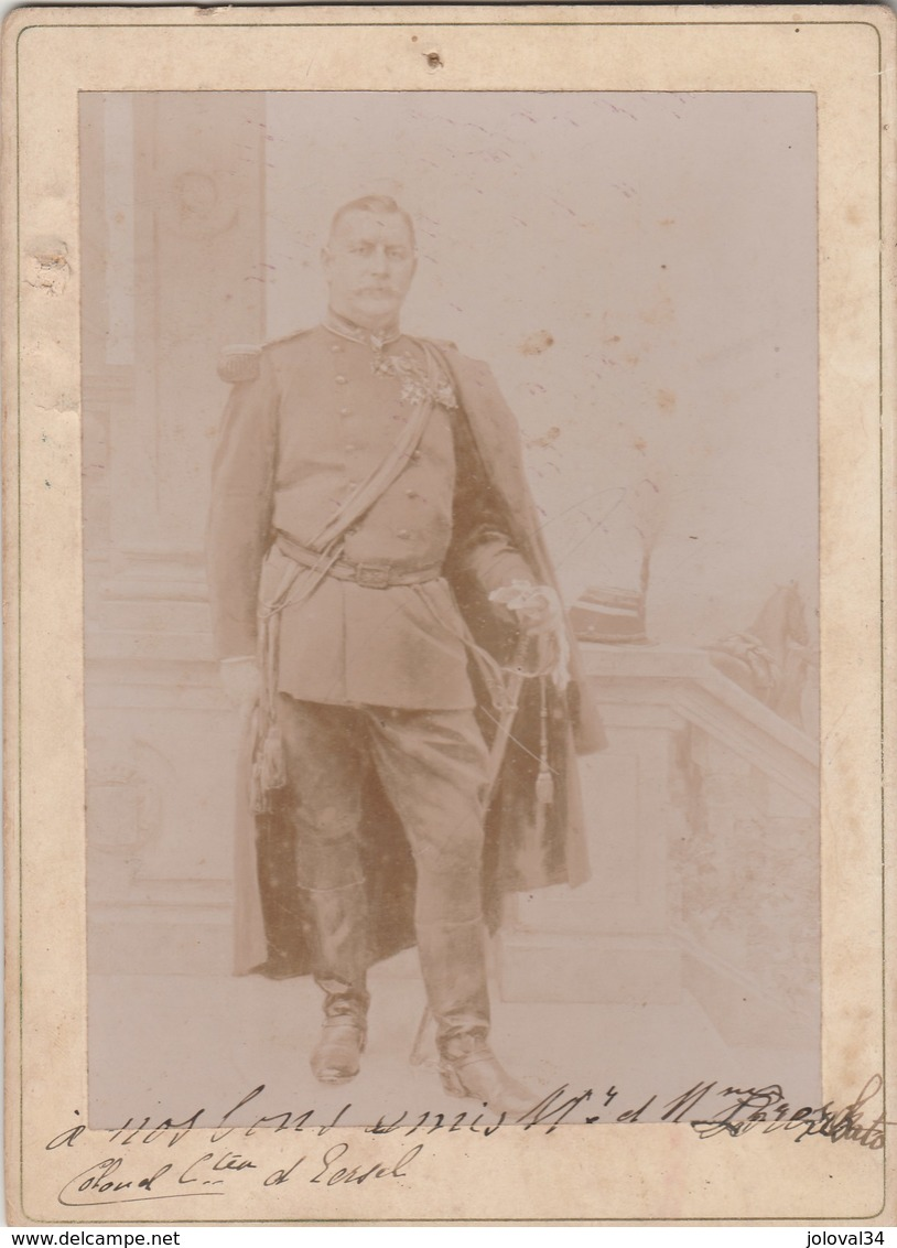 Photo N° 5 - Colonel Charles Léopold Van Eersel  -  Format 11 X 15,5 Cm Collée Sur Carton - Photos