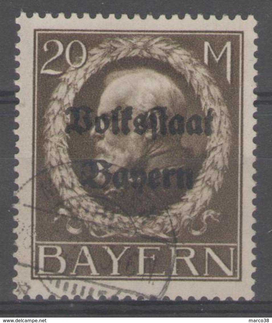 ALLEMAGNE/BAVIERE:  N°135 Oblitéré      - Cote 17€ - - Bayern