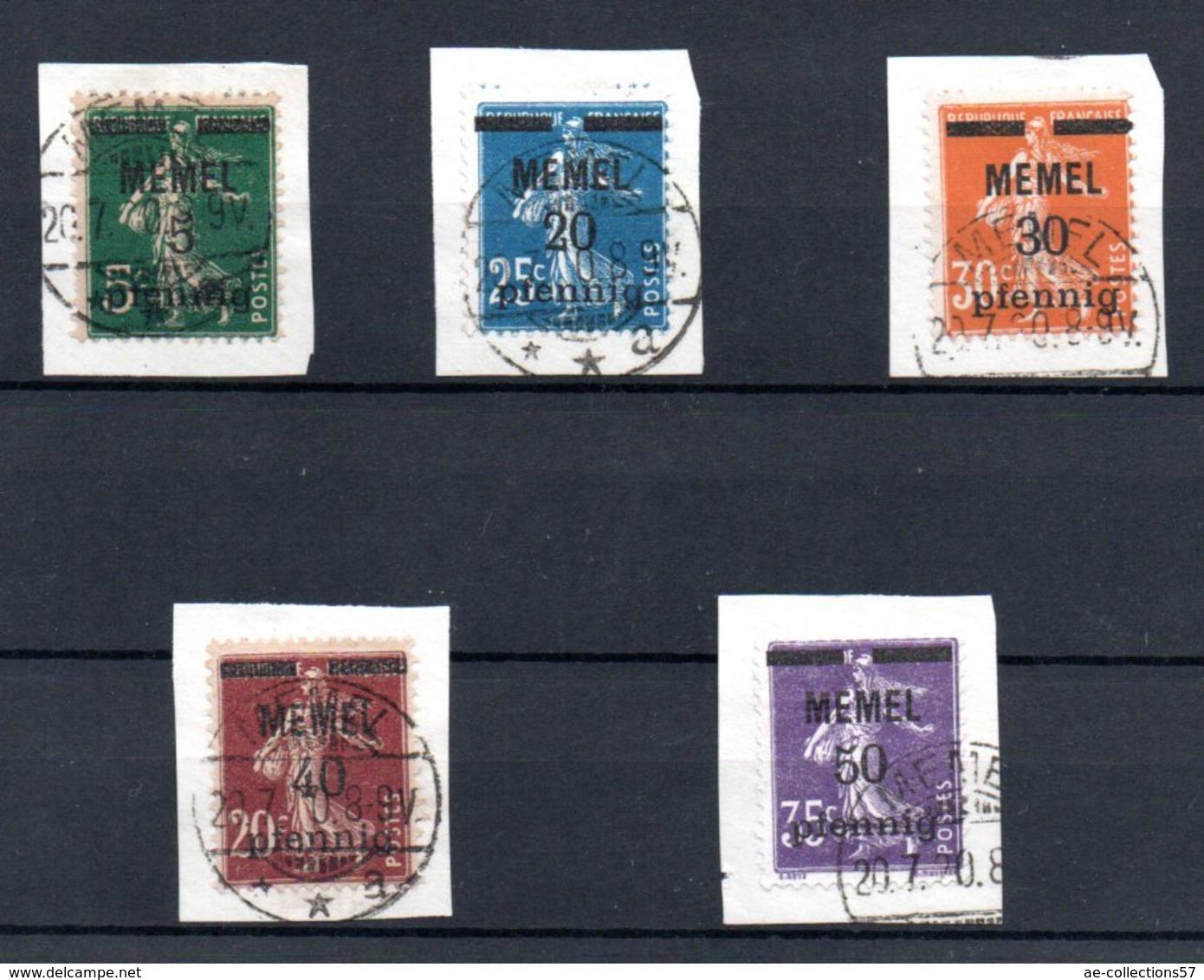Memel / Série N 18 à 23 / Oblitérés - Memel (1920-1924)