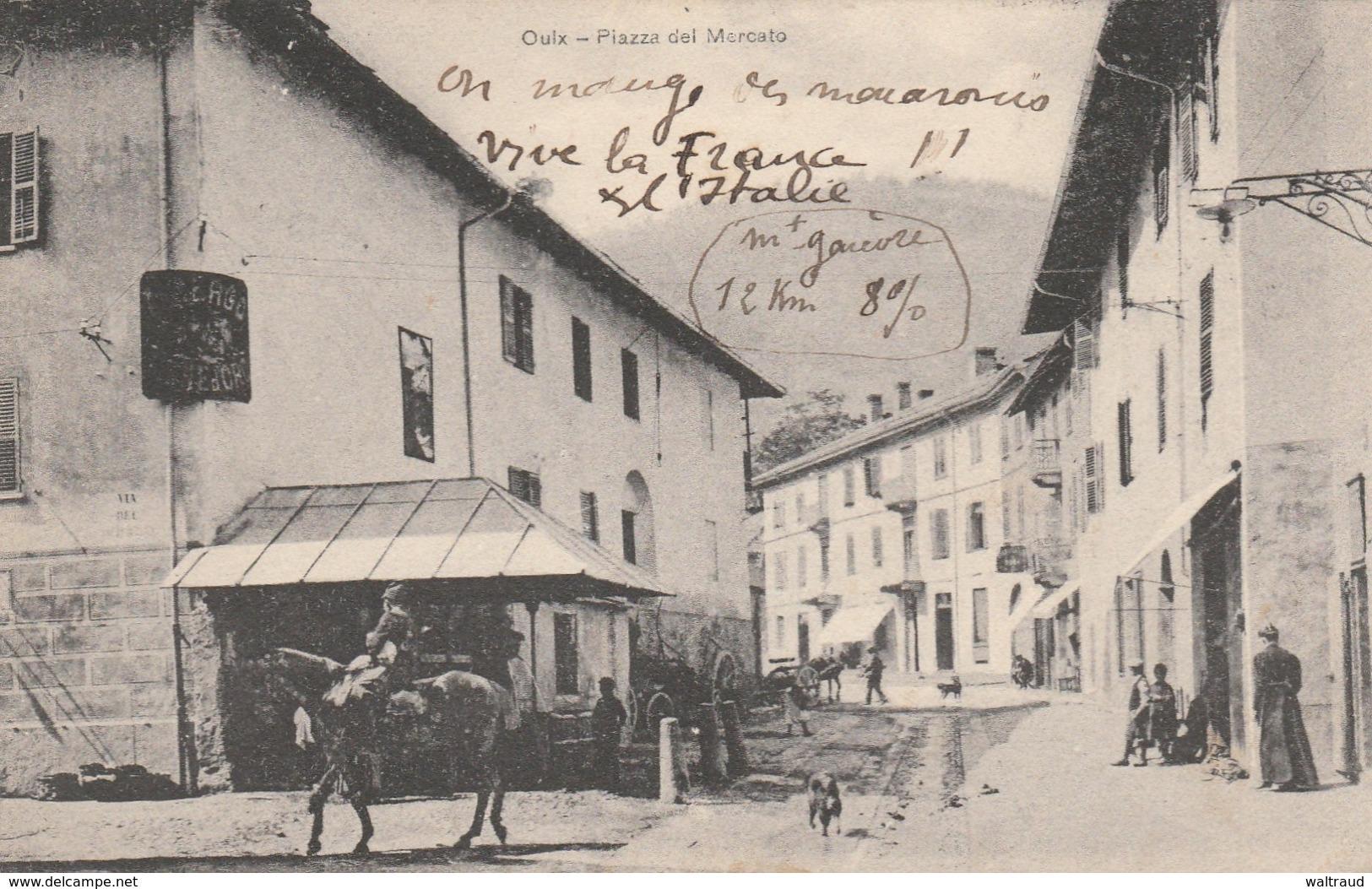 OULX--PIAZZA DEL MERCATO--VOIR SCANNER - Italie