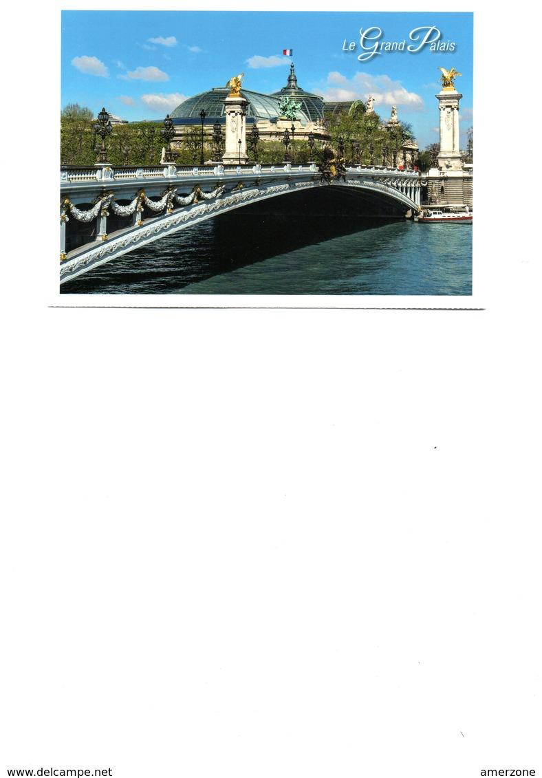 MAGNIFIQUE CARTE POSTALE DE PARIS  NEUVE....LE GRAND PALAIS   CARTE PRETIMBREE LETTRE VERTE - Ponts