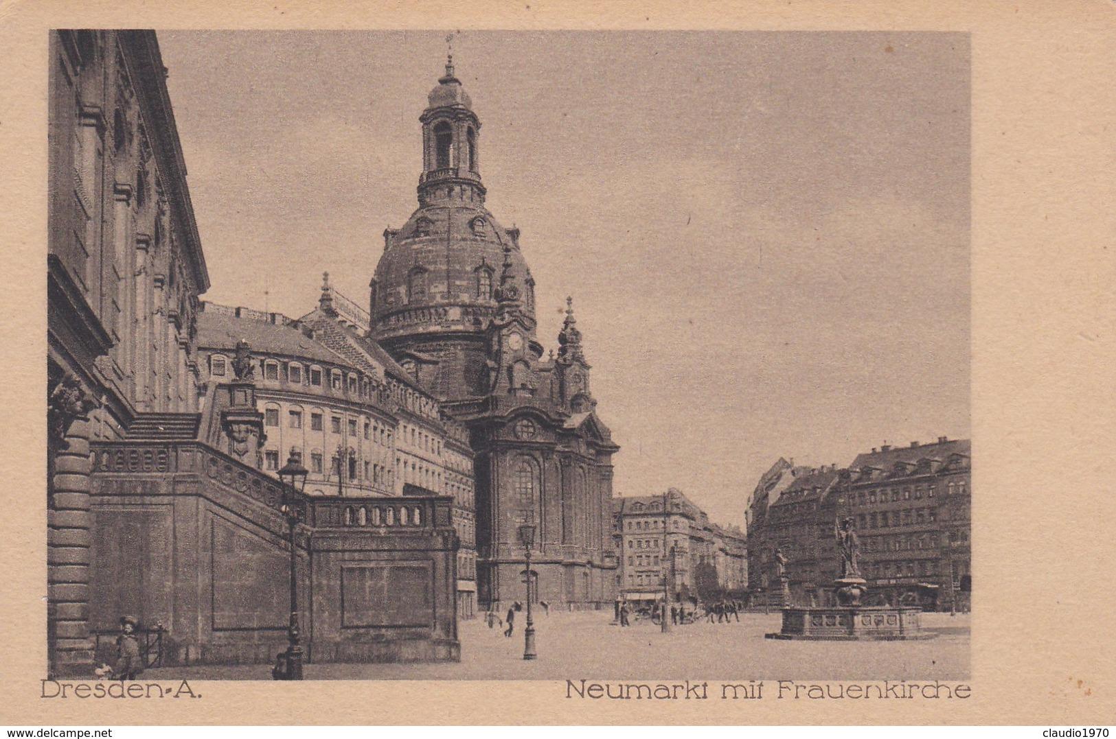 CARTOLINA - POSTCARD - GERMANIA - DRESDEN. A. - NEUMARKT MIT FRAUENKIRCHE - Dresden