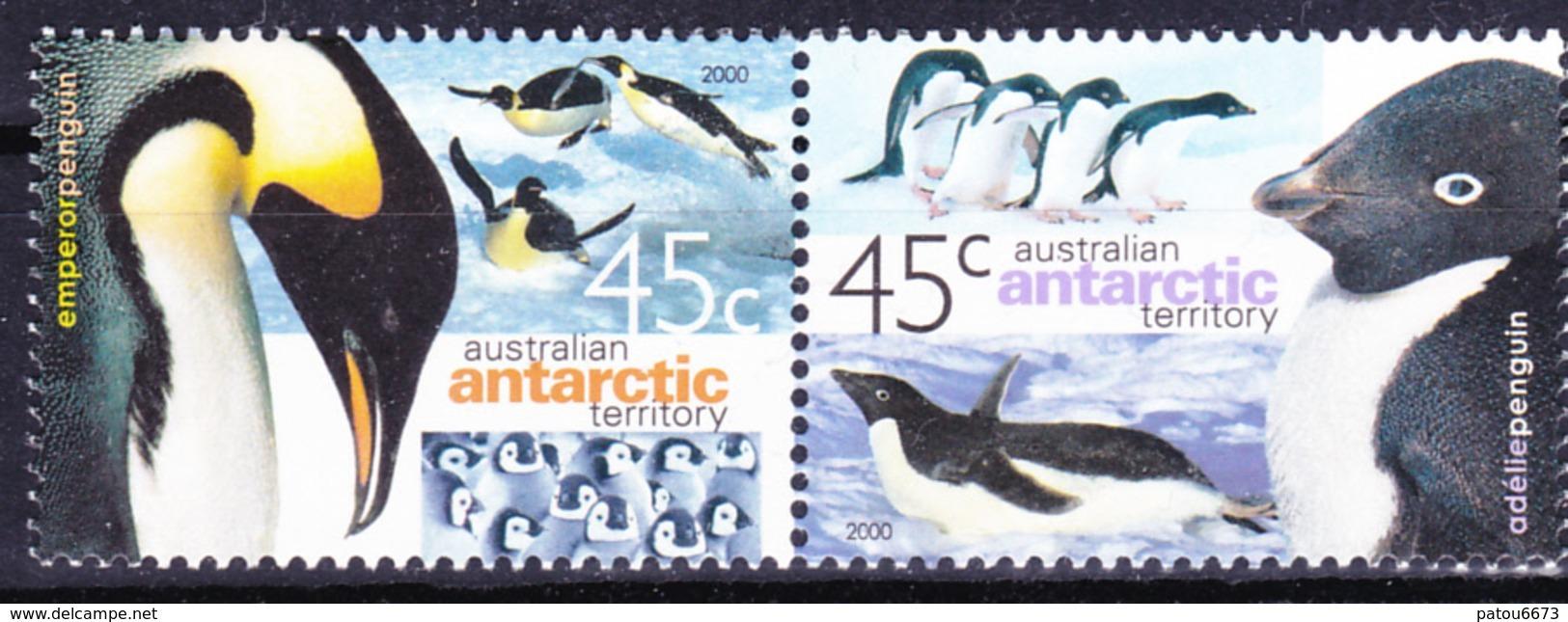 AAT 2000 Australia Antarctic Fauna Penguins (Yv 123 To 124 ) MNH - Antarctic Wildlife