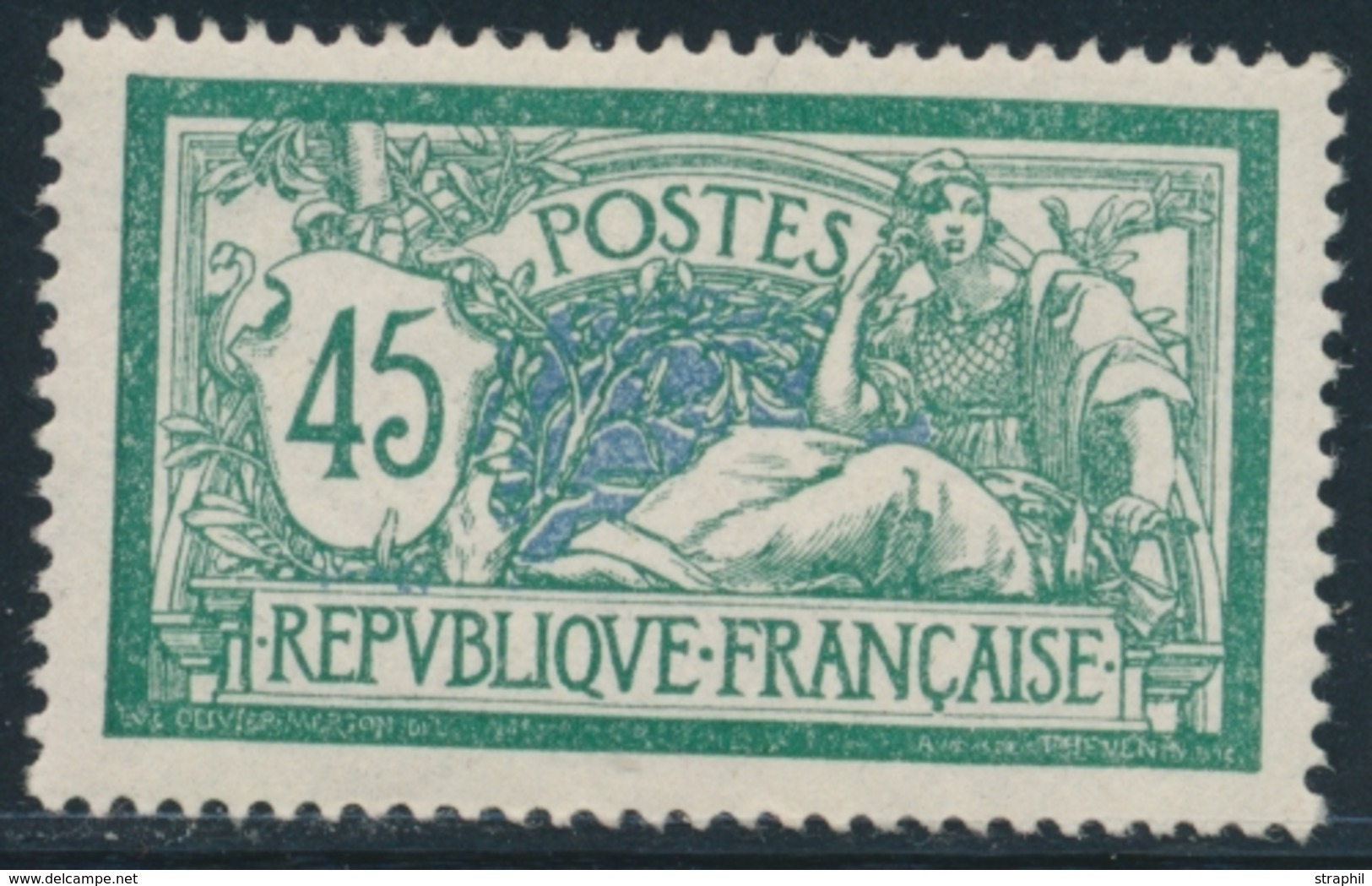 ** N°143 - 45c - TB Centrage - TB - France
