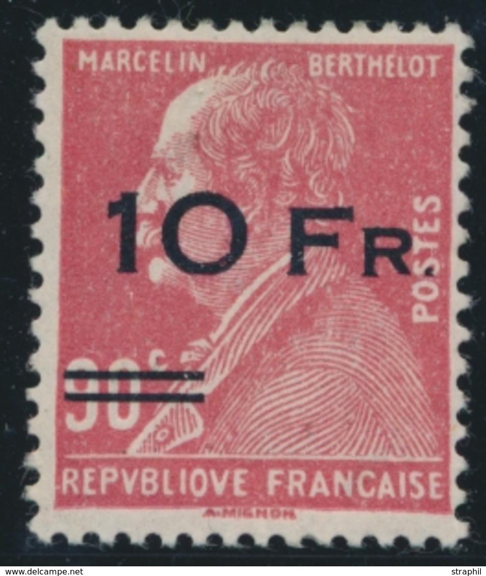 ** N°3 - 10F S/90c Rouge - Signé Brun Et Docquet - TB - Airmail