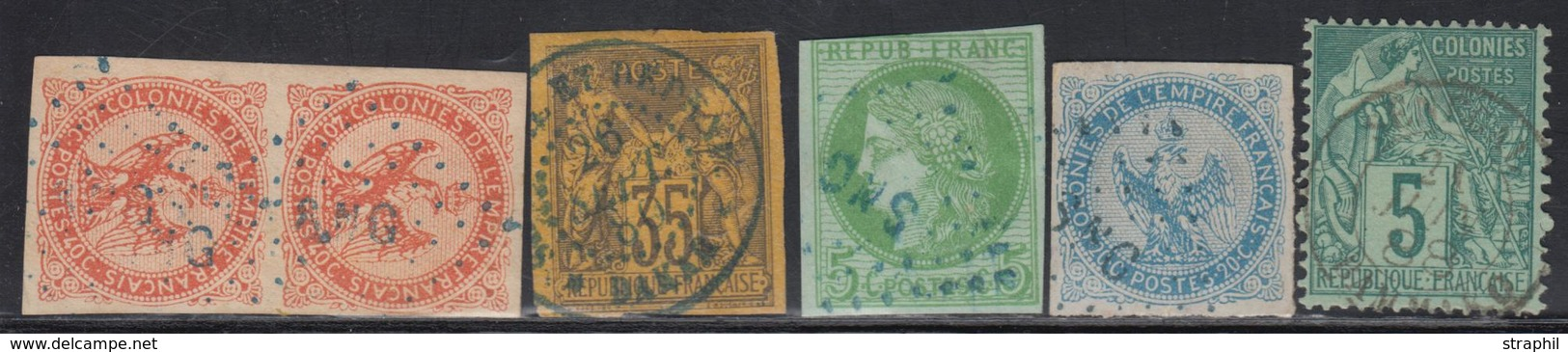 """O N°4, 5 Paire, 17 Obl. """"SNG"""", 45, 49 Obl. Càd SENEGAL - TB - Eagle And Crown"""