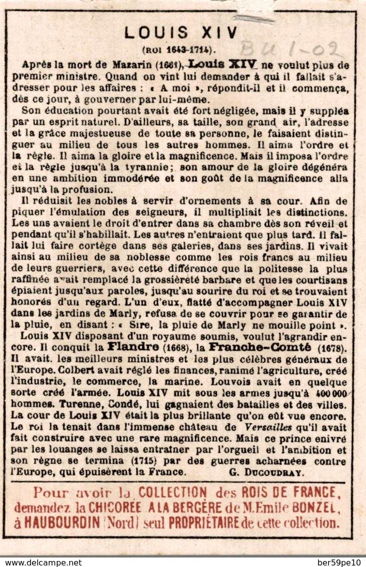 CHROMO CHICOREE A LA BERGERE EMILE BONZEL HAUBOURDIN  N° 83 LOUIS XIV - Otros