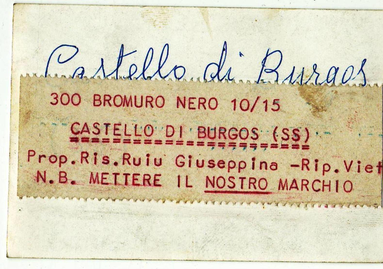 6837 FOTO SASSARI CASTELLO DI BURGOS Cm 9x6,5 Circa - Places