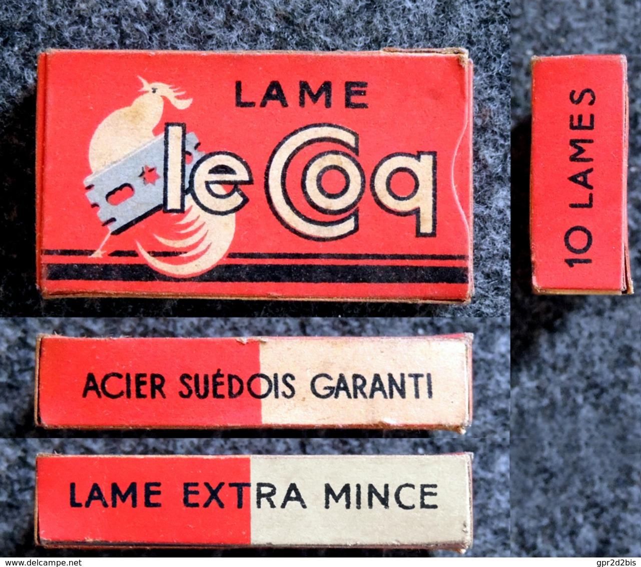 Ancienne Boîte De Lames De Rasoir, Complète, Le Coq 10 Lames - Scheermesjes