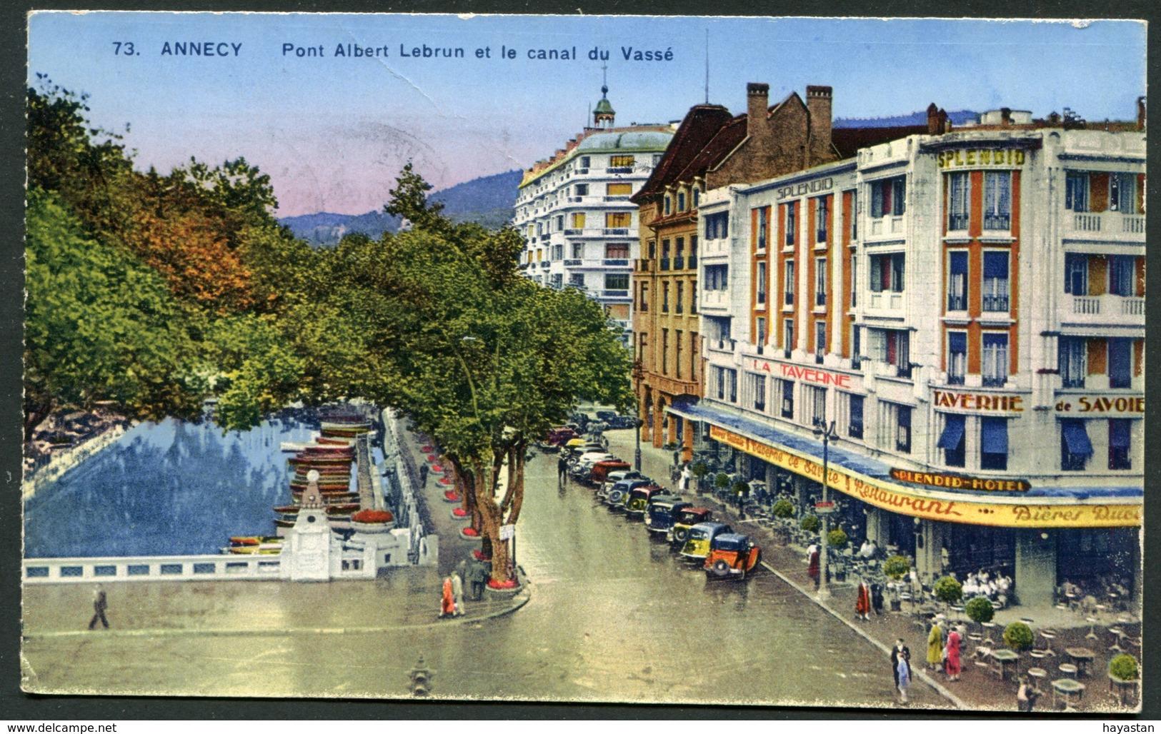ANNECY - PONT ALBERT LEBRUN ET LE CANAL DU VASSE - Annecy