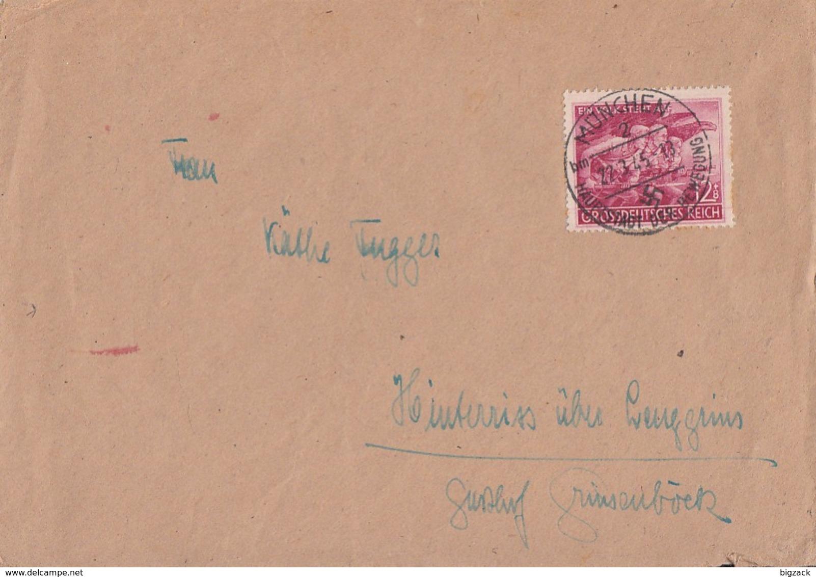 DR Brief EF Minr.908 München 27.3.45 - Briefe U. Dokumente