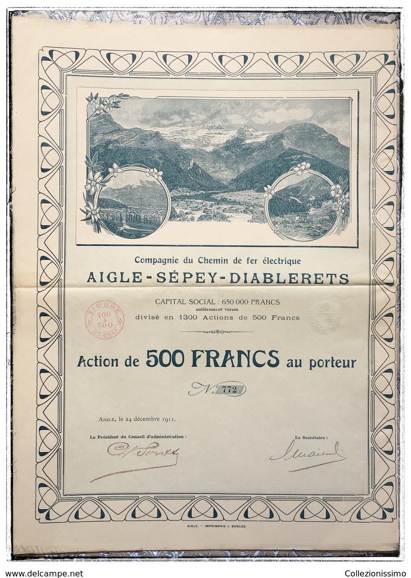 Compagnie Du CdF électrique Aigle-Sépey-Diablerets - 1911 - N. 772 - Zonder Classificatie