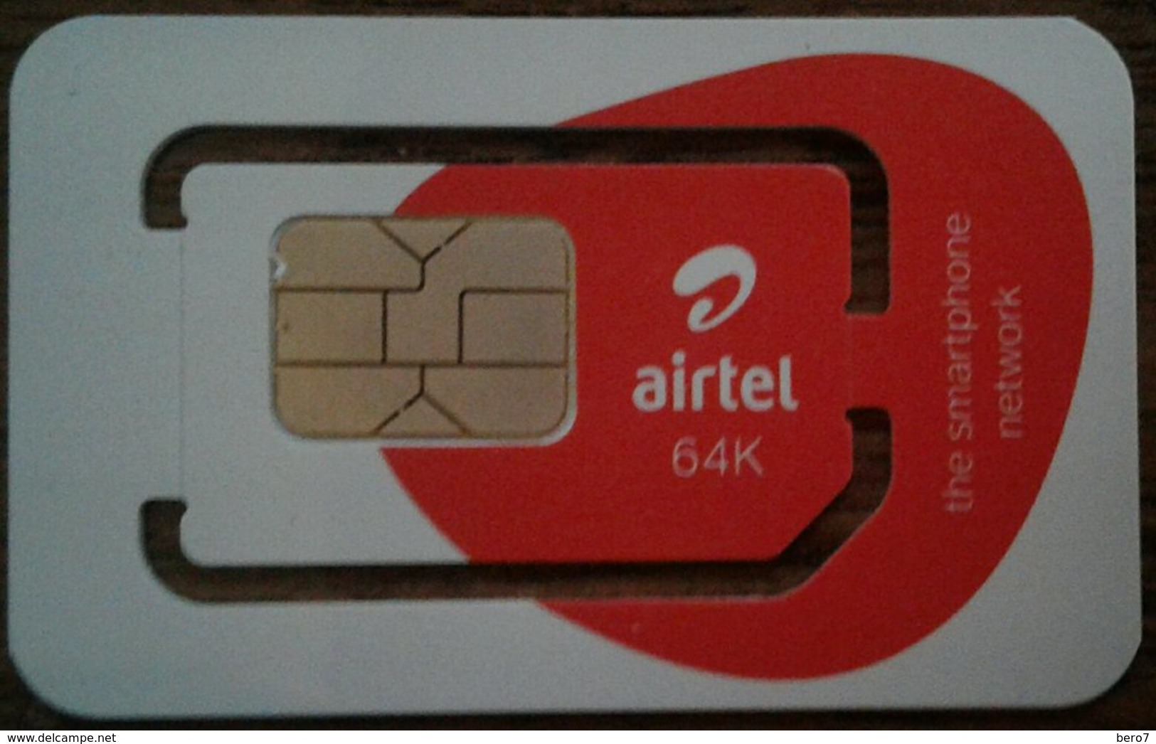 Airtel 64K Mobile Rwanda (AFRICA) GSM SIM - Rwanda