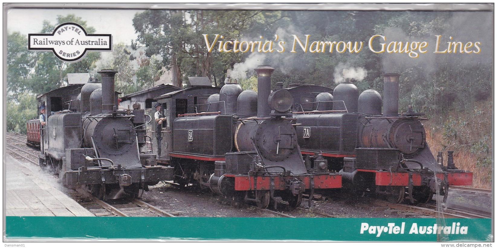 AUSTRALIA  1995 PAYPEL Victoria's Narrow Guage Railways Trains Mint - Telefoonkaarten