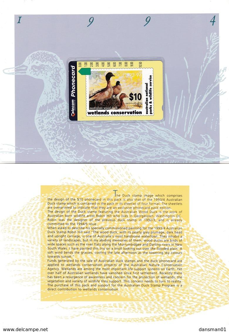 AUSTRALIA Wetlands Conservation 1993-94 Mint Pack - Otros – Oceanía