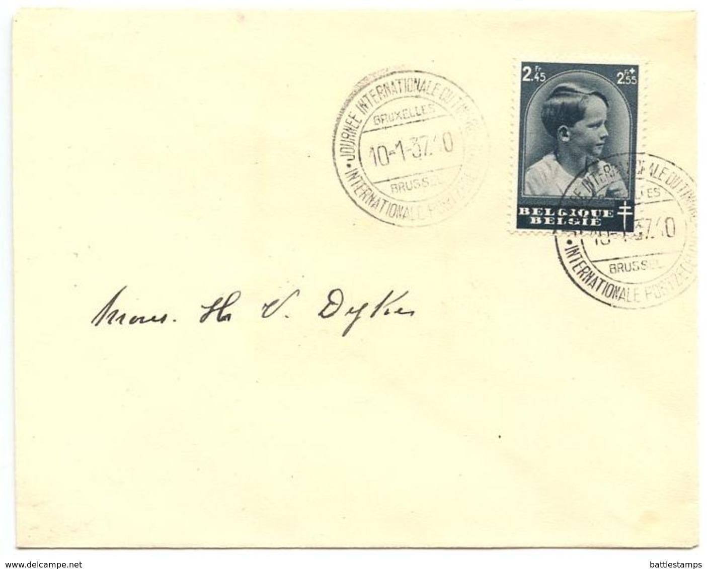 Belgium 1937 FDC Scott B188 Prince Baudouin, International Stamp Day - FDC