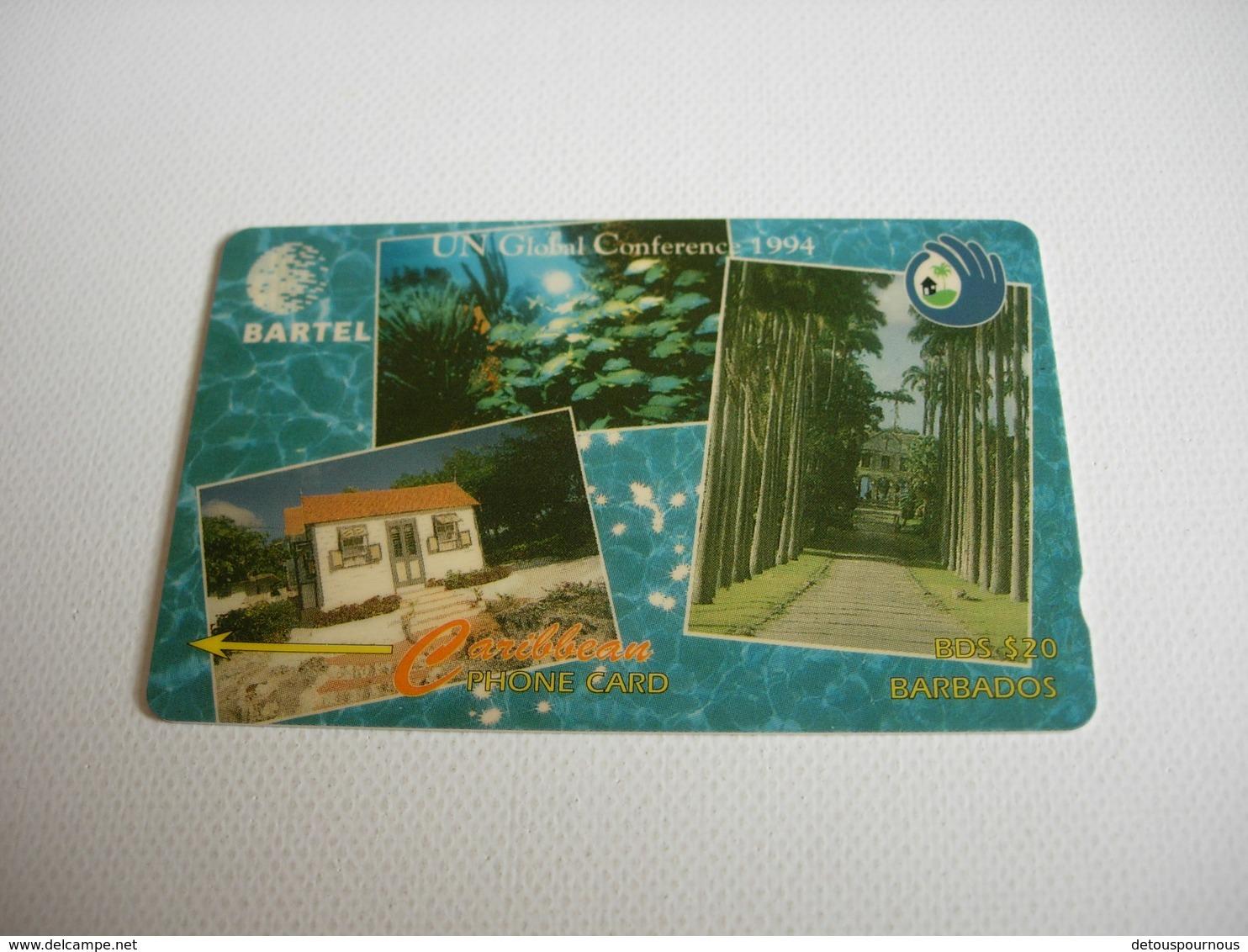 TELECARTE BARBADOS, UN GLOBAL CONFERENCE 1994 14CBDBO29387 - Barbades