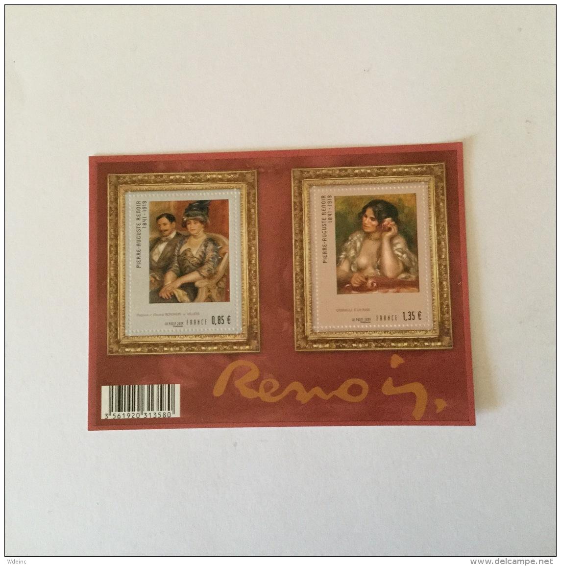 FRANCE 2009 Serie Artistique Pierre-Auguste Renoir Feuillet-M/S Superbe-MUH YvF4406 - France