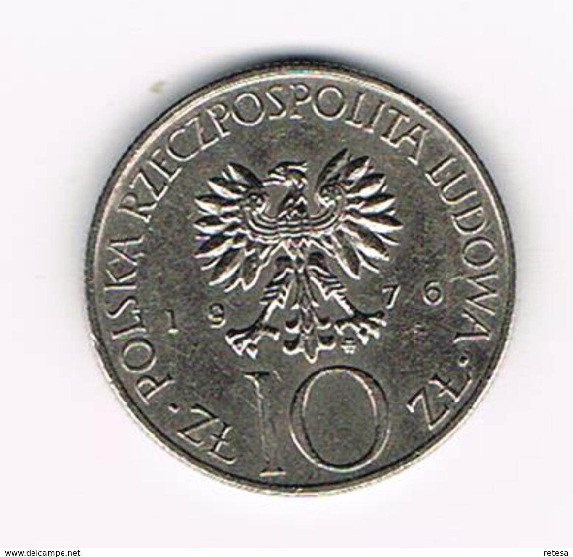 &-  POLEN  10 ZLOTYCH  1976  ADAM  MICKIEWICZ - Pologne