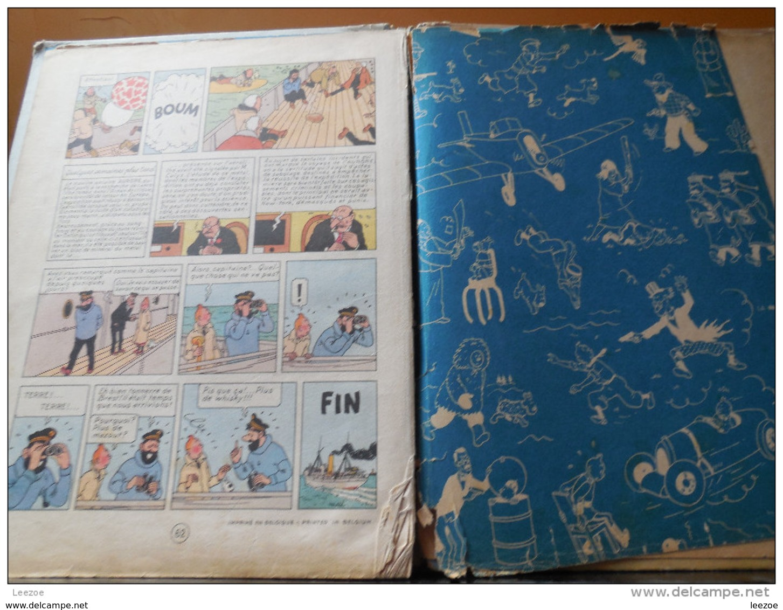 TINTIN :L'ETOILE MYSTERIEUSE, 4ème Plat B1,1946..CÔTE BDM + 1000€ - Tintin