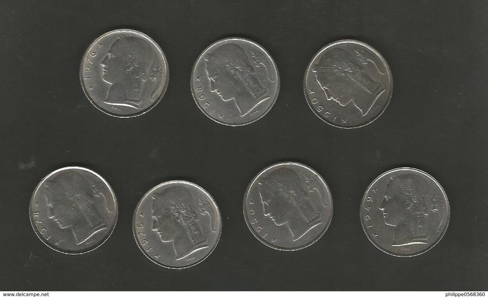 """Pièces De 5 Francs """"Belgie"""" Et """"Belgique - Belgique"""
