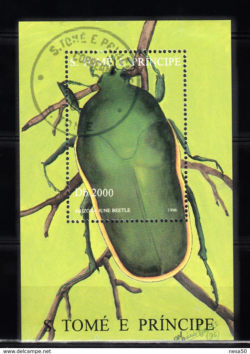 Sao Tome En Principe 1996 Mi Nr Blok 1711 Kever, Beetle - Sao Tome En Principe