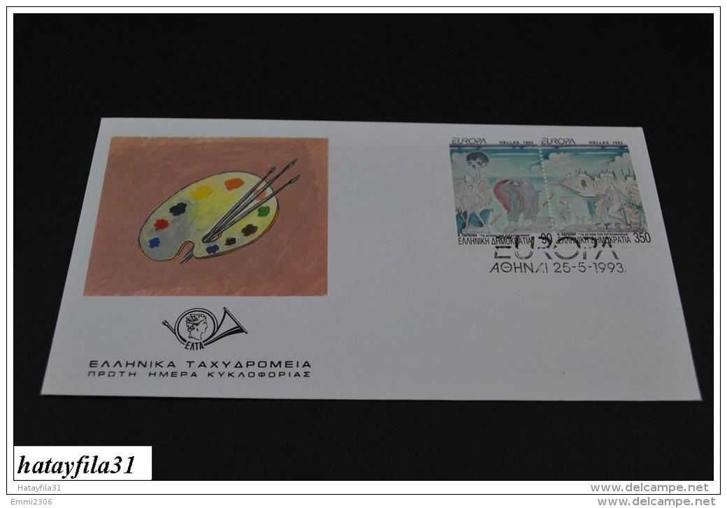 Grichenland  1993  FDC  Mi. 1829 - 1830  /  Europa : Zeitgennössische Kunst           (T - 106 ) - FDC