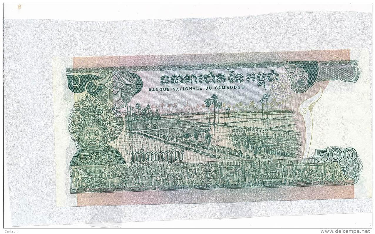 Billets - B3351 - Cambodge -500 Riels ( Type, Nature, Valeur, état... Voir Double  Scans) - Cambodge