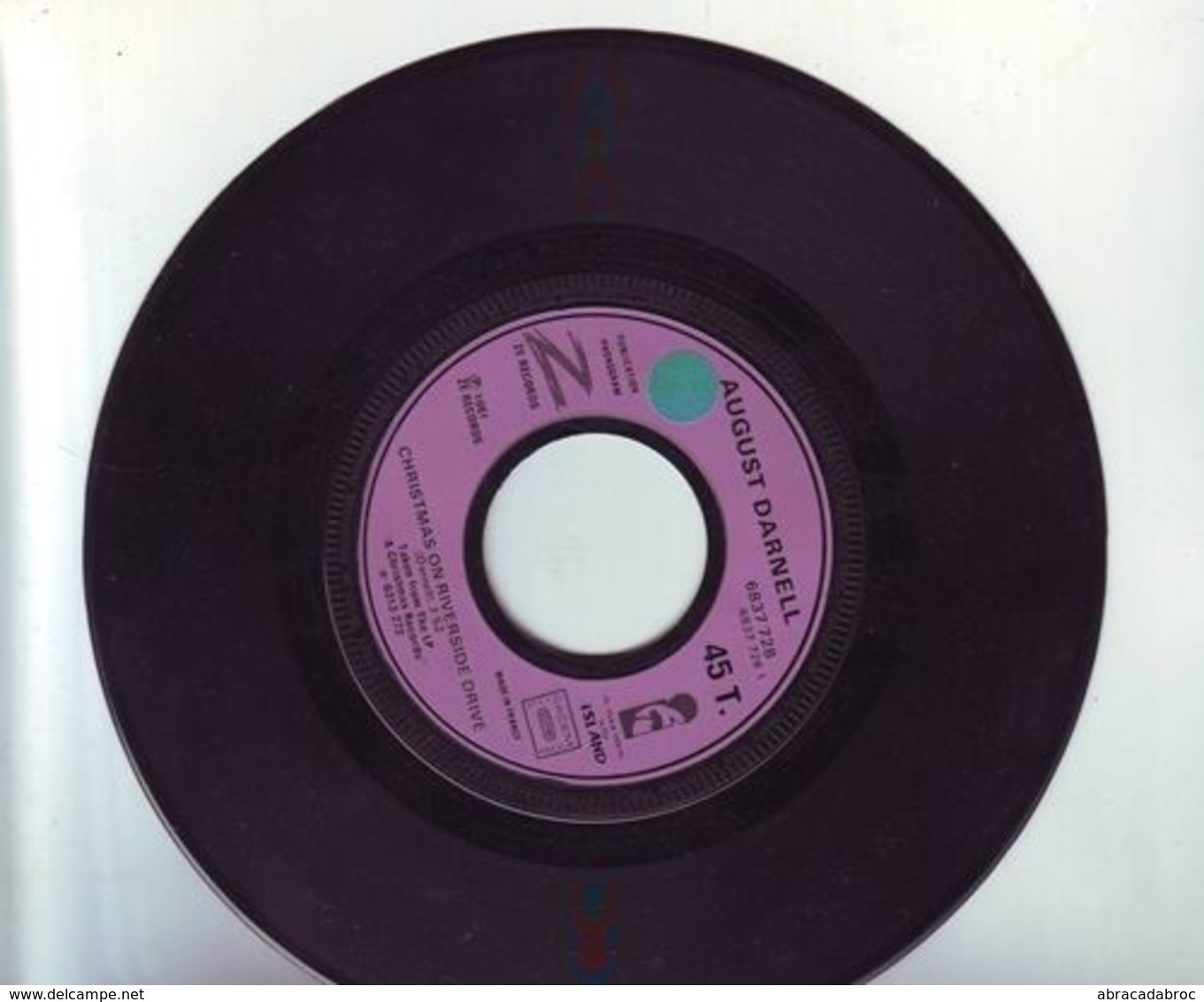 45 Tours - August Darnell - Christmas On Riverside Drive / Sans Pochette -Island - Disco, Pop