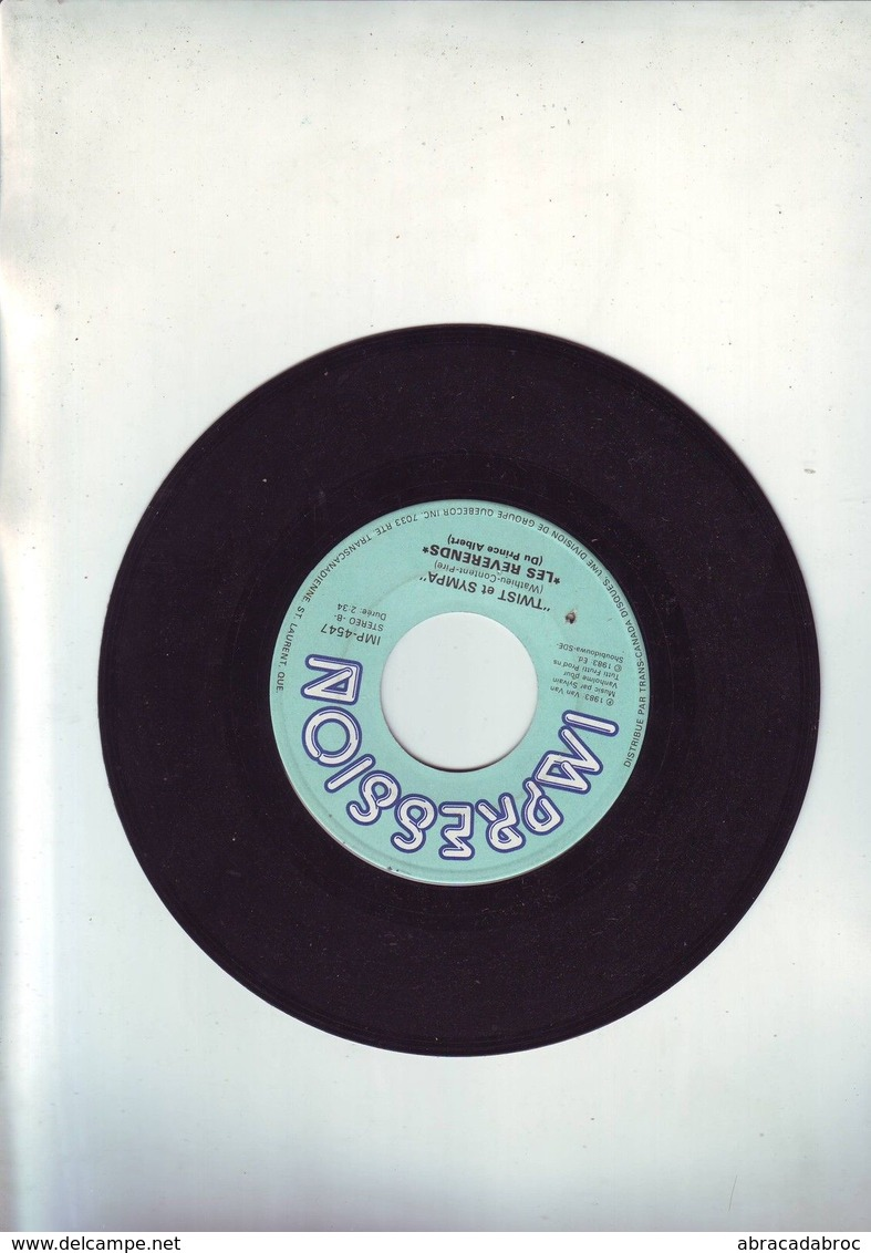 45 Tours Sans Pochette Les Reverends - La Salade / Twist Et Sympa - Disco, Pop