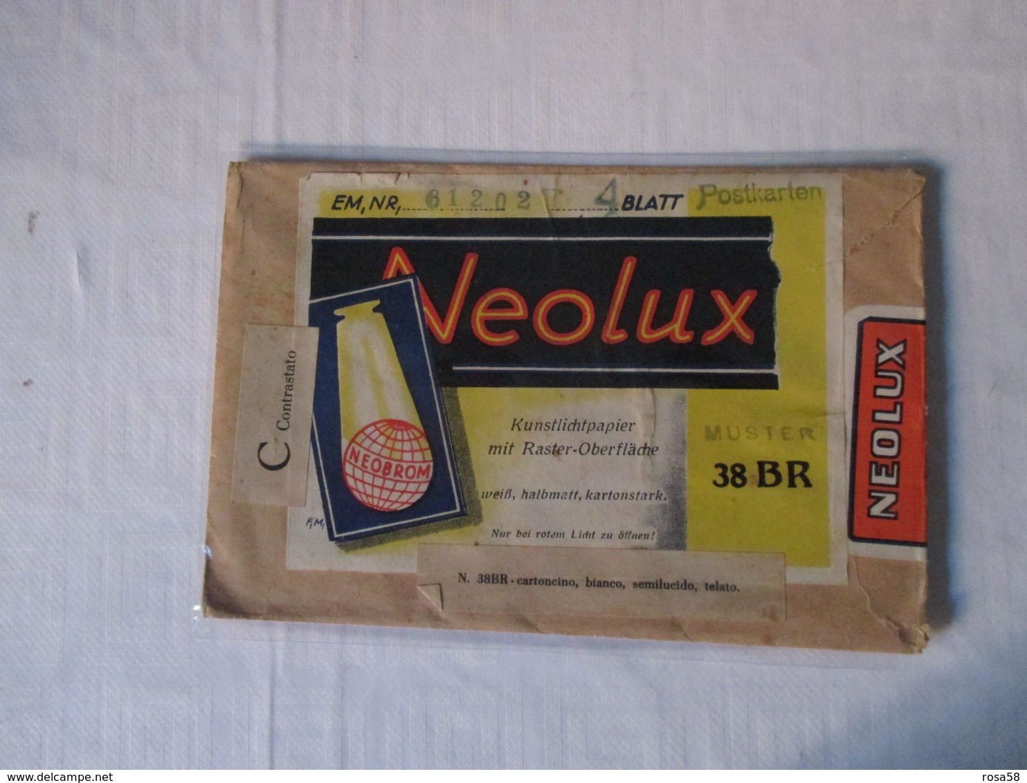 NEOLUX Kunstllichpapier Raster  Neobrom Busta Cartoncino Bianco Semilucido Per FOTO - Autres