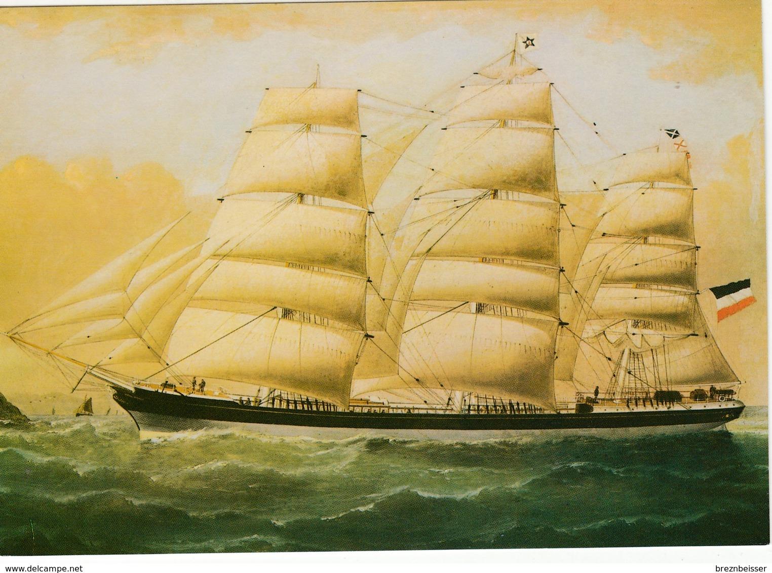 AK Vollschiff Ennerdale Von Rostock 1893 - Karte Nicht Gel. - Segelboote