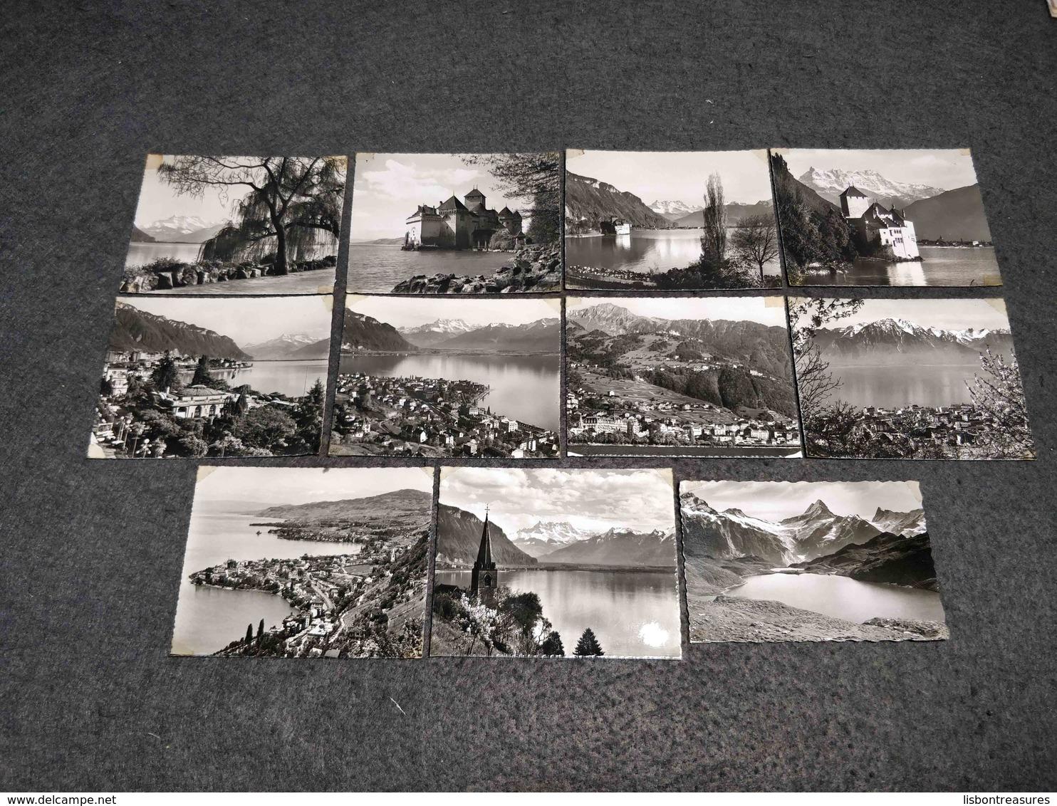 ANTIQUE LOT X 10 SMALL PHOTOS SWITZERLAND - MONTREAUX VIEWS - Pellicole Cinematografiche: 35mm-16mm-9,5+8+S8mm