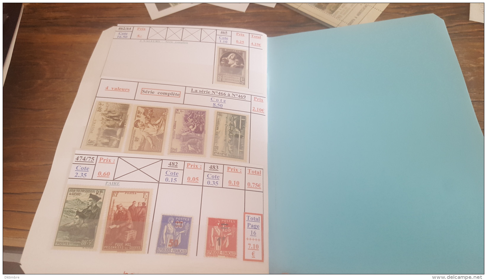 LOT 405844 TIMBRE DE FRANCE NEUF* VALEUR 650 EUROS - Collections