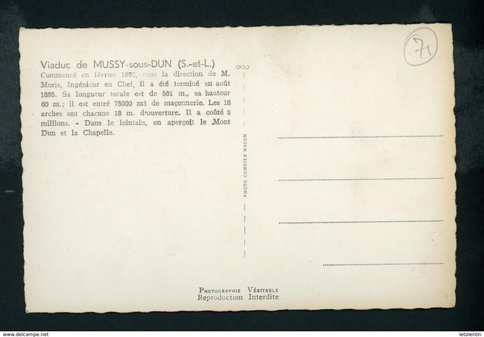 CPSM:  71 - VIADUC DE MUSSY-SOUS-DUN - France