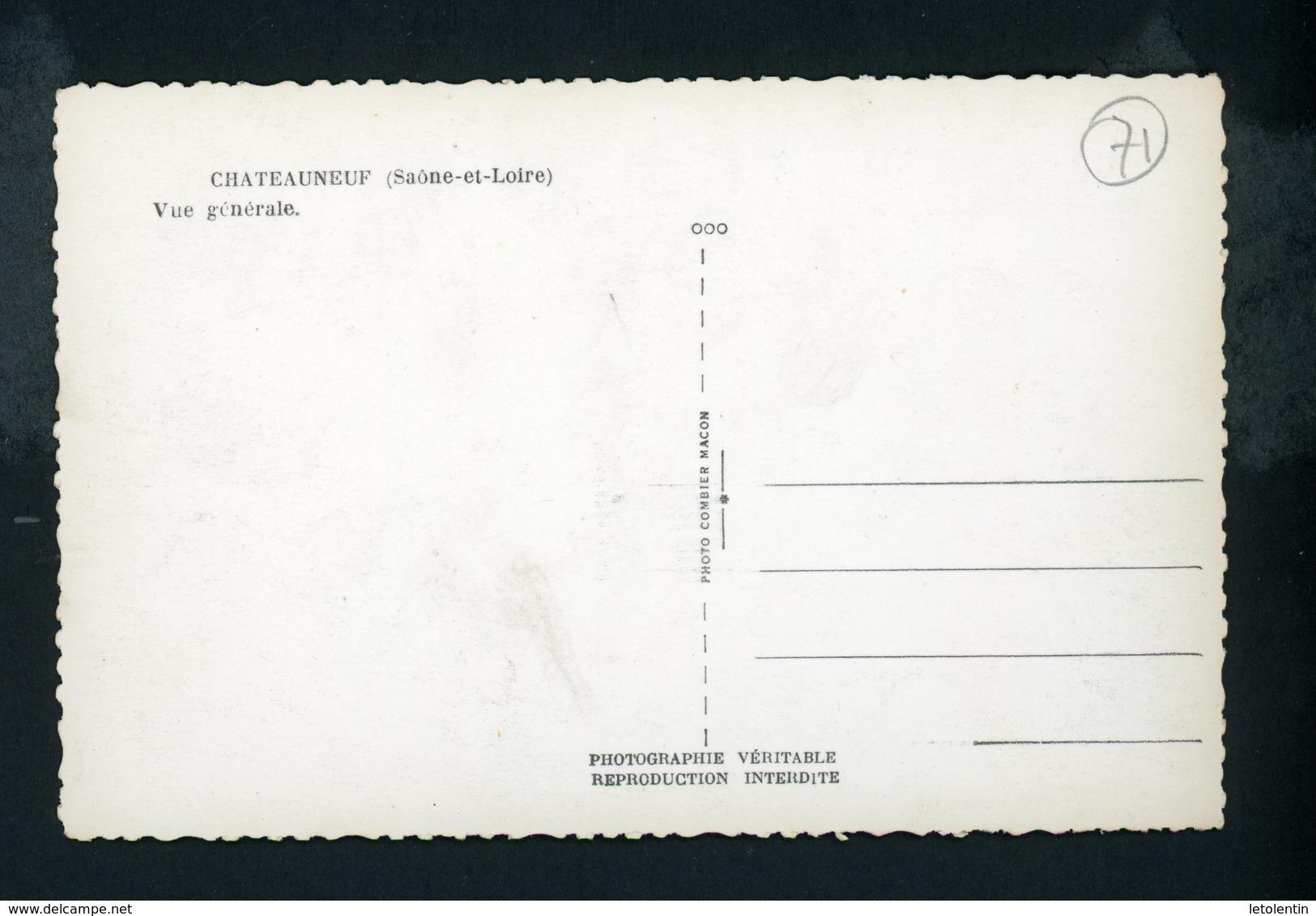 CPSM:  71 - CHATEAUNEUF - VUE GÉNÉRALE - France
