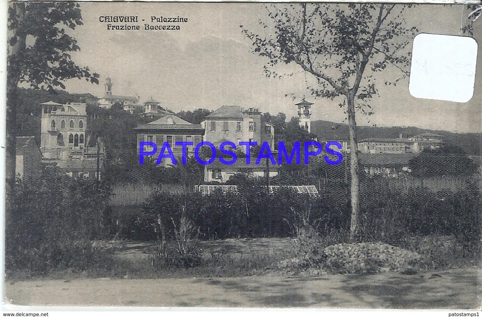 95791 ITALY CHIAVARI GENOVA BACCEZA FRACTION PALACES POSTAL POSTCARD - Italie