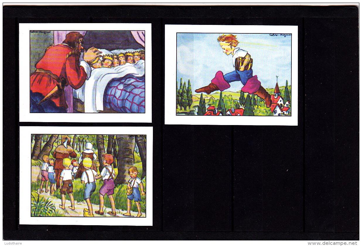Lot 3 Images, Le Petit Poucet, Editions Educatives, Scolaire, Illustrateur Calvet-Rogniat - Vieux Papiers