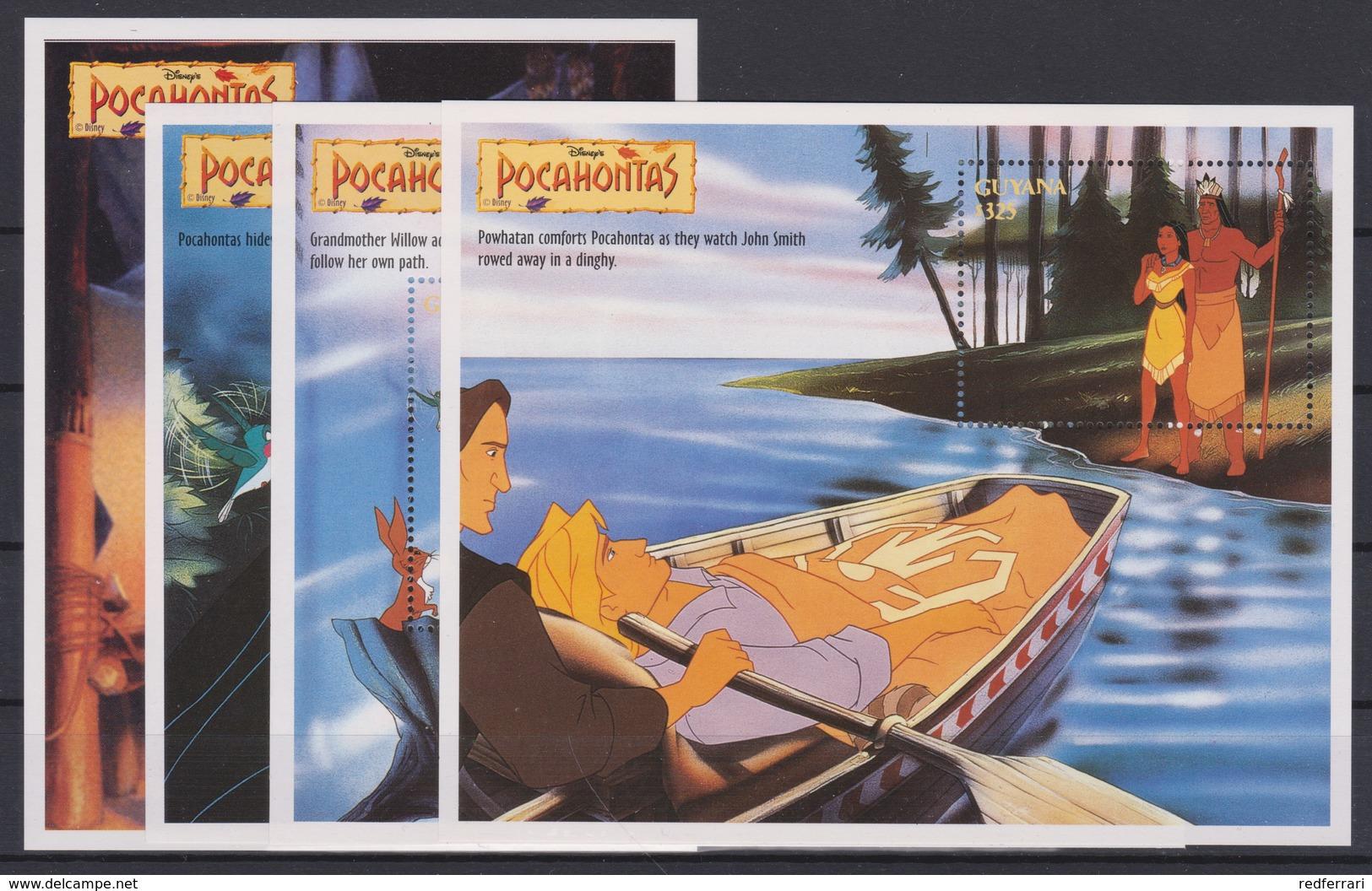 2329  WALT DISNEY - GUYANA ( POCAHONTAS ) Meeko And Flit - Pocahontas And Jhon Smith . - Disney