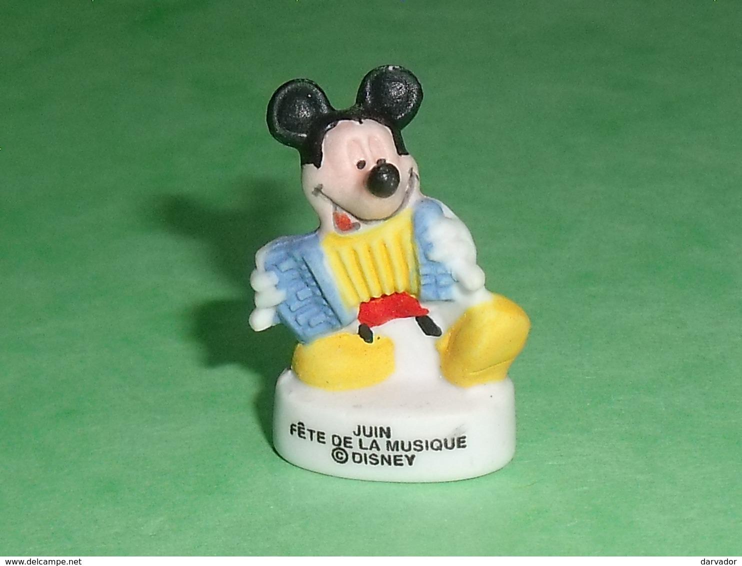 """Fèves / Disney : Mickey , Juin , Fete De La Musique  """" Mat """"    T126 - Disney"""