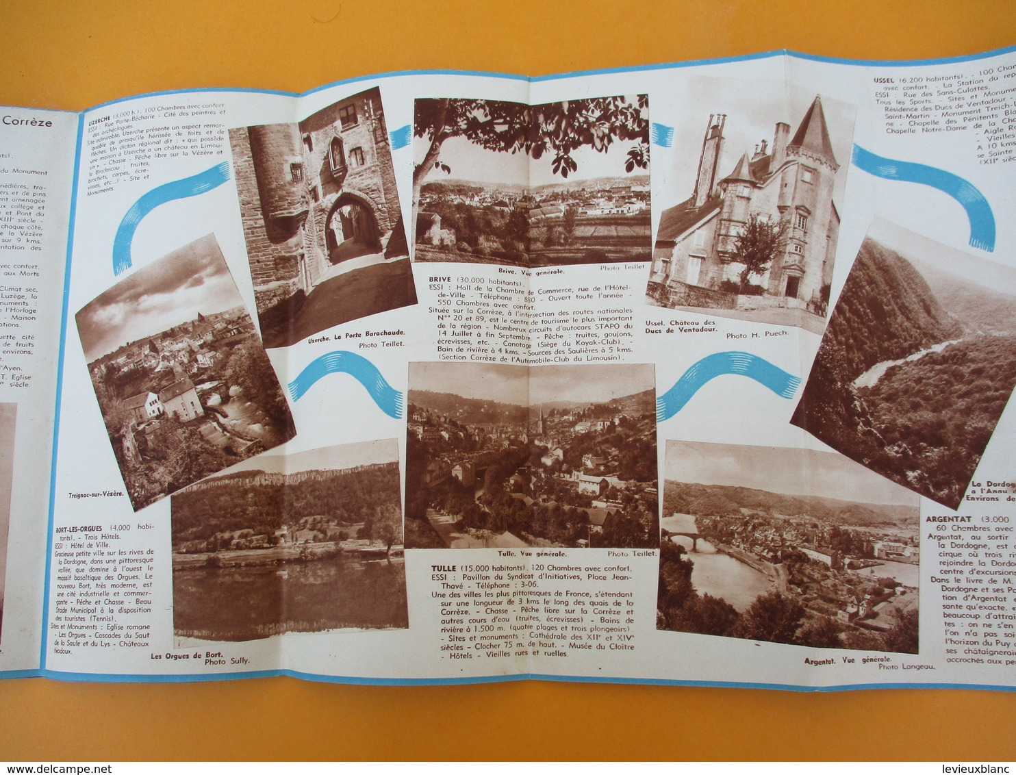 Plan Touristique De La CORREZE/Découverte De La France / Le Bas Limousin/ESSI/Conseil Général/ Vers 1950          PGC202 - Geographical Maps